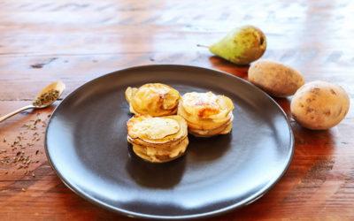 Kartoffel-Birnen-Türmchen (mit Raclettekäse)